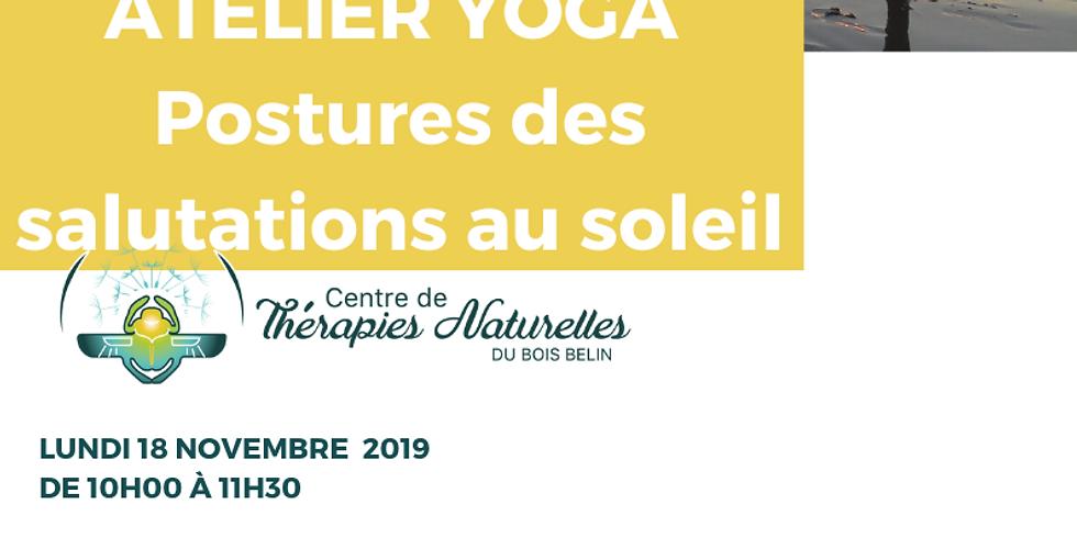 Ateliers YOGA à thèmes : POSTURES DES SALUTATIONS AU SOLEIL A