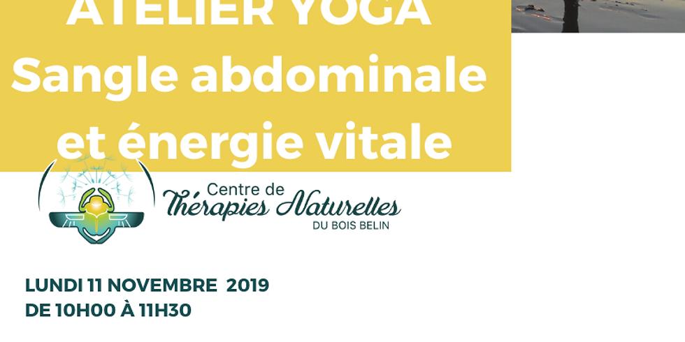 Ateliers YOGA à thèmes : Sangle abdominale et énergie vitale