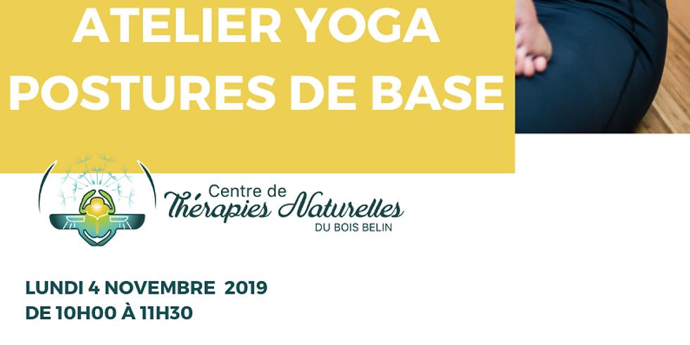 Ateliers YOGA à thèmes : POSTURES DE BASE A REFAIRE A LA MAISON