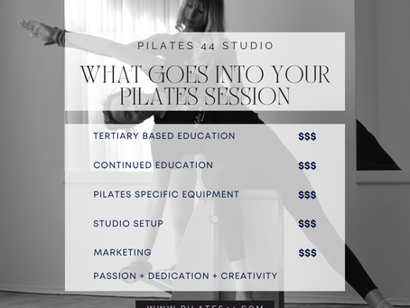 WHAT GOES INTO YOUR PILATES SESSION