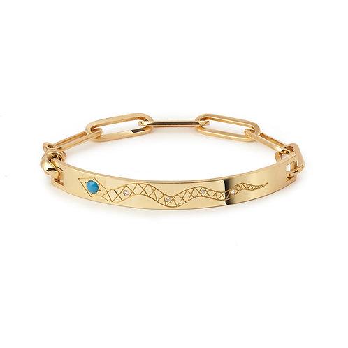 Bracelet Cléo, or jaune à personnaliser