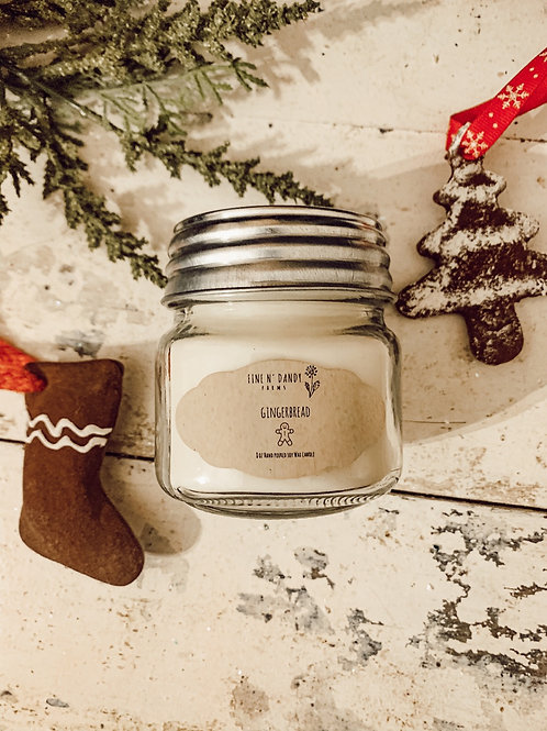 Gingerbread 8 oz Soy Candle