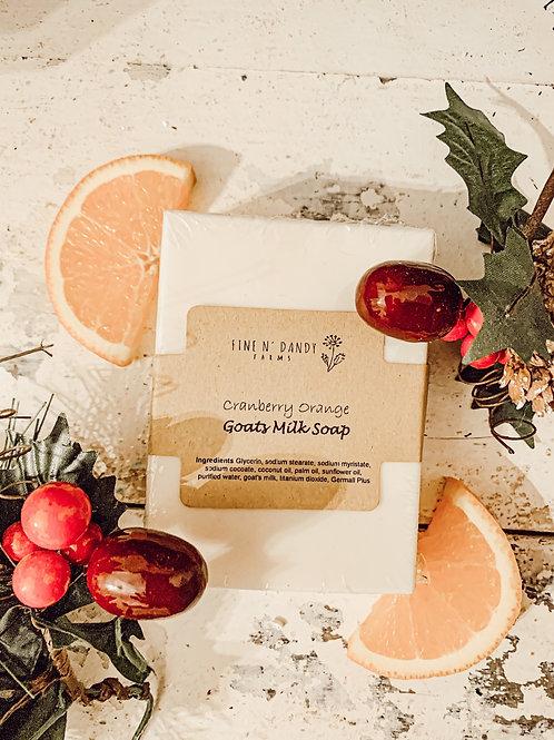 Cranberry Orange Goats Milk soap