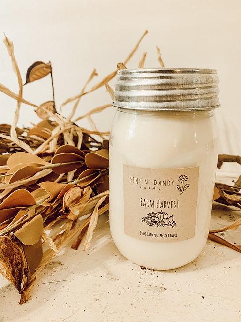 Farm Harvest 16 oz Soy Candle