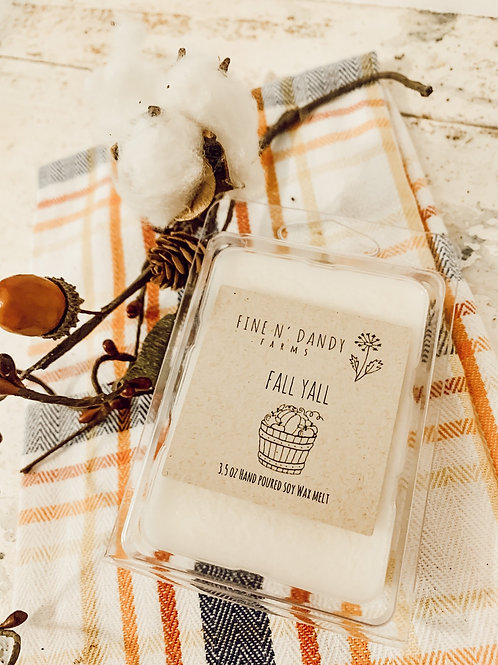 Fall Yall 3.5 oz Soy Wax Melt