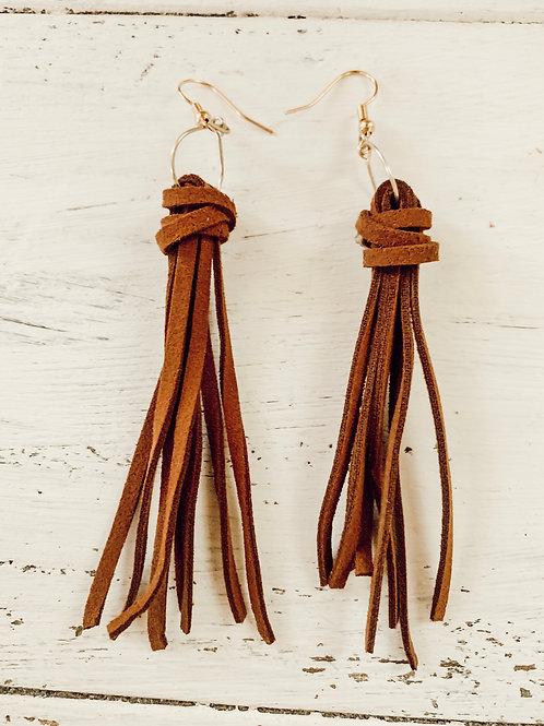 Brown Fringe Earings