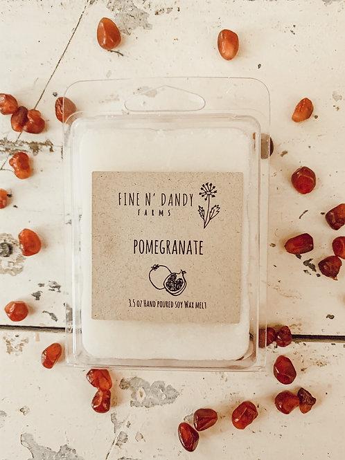 3.5 oz Pomegranate Soy Wax Melt
