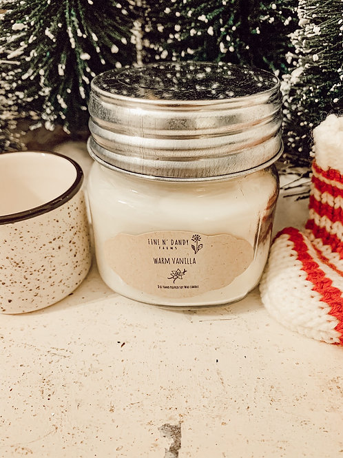 Warm Vanilla 8oz Soy Candle