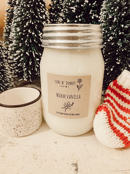 Warm Vanilla 16oz Soy Candle