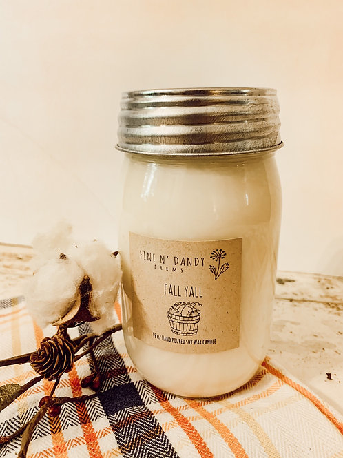 Fall Yall 16 oz Soy Candle