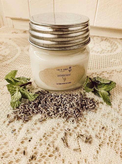 Lavender Mint 8oz Soy candle
