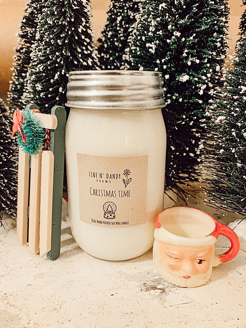Christmas Time 16 oz Soy Candle