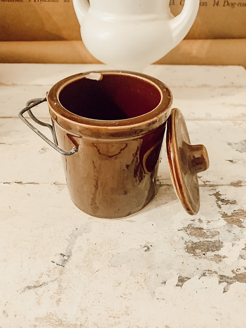 12oz Brown Crock