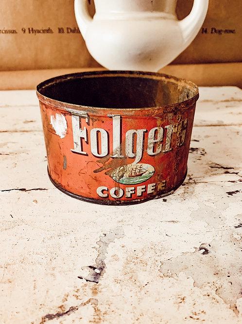 28 oz Folgers Coffee tin