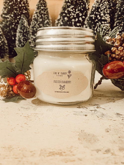 Frosted Cranberry 8 oz Soy Candle