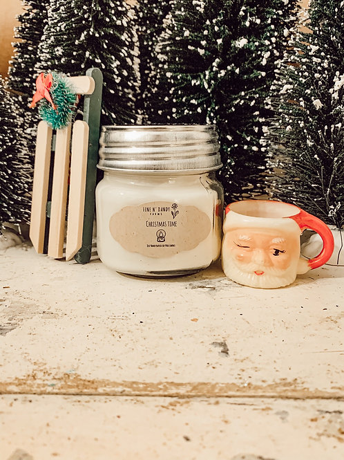 Christmas Time 8 oz Soy Candle