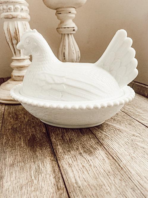 10oz Antique Chicken Dish