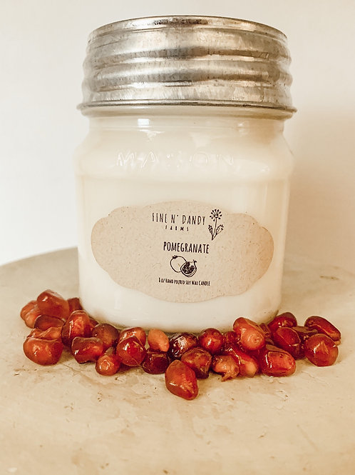8 oz Pomegranate Soy Candle