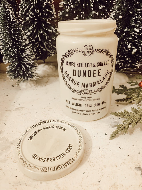 Vintage Dundee Marmalade Jar James Keiller & Sons 16oz Soy Candle #6