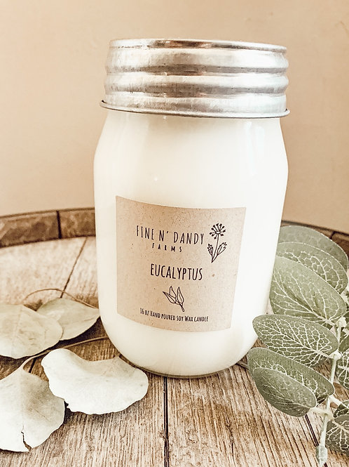 16 oz Eucalyptus Soy Candle