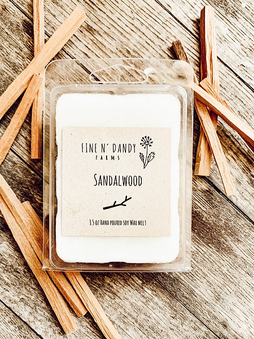 3.5 oz Sandalwood Wax Melt