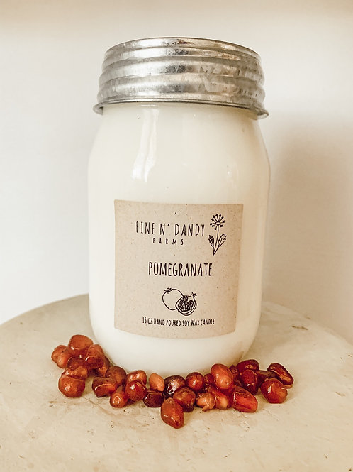 16 oz Pomegranate Soy Candle