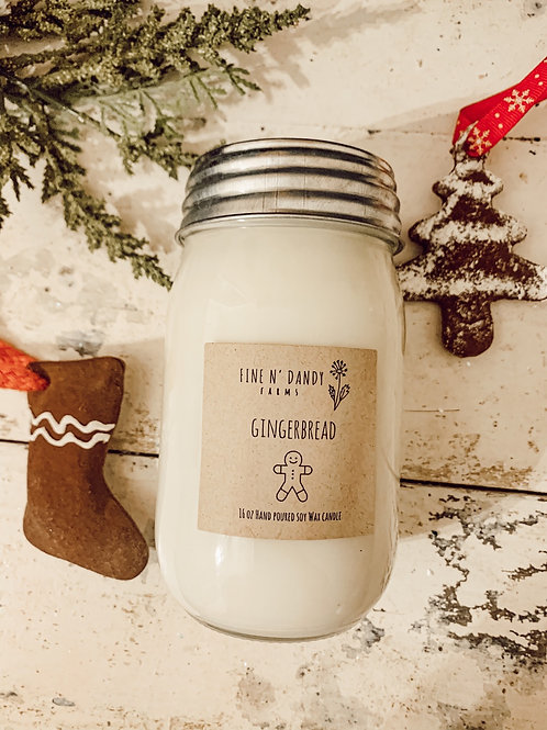 Gingerbread 16 oz Soy Candle