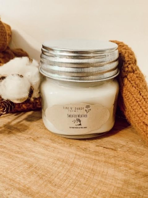 Sweater Weather 8 oz Soy Candle