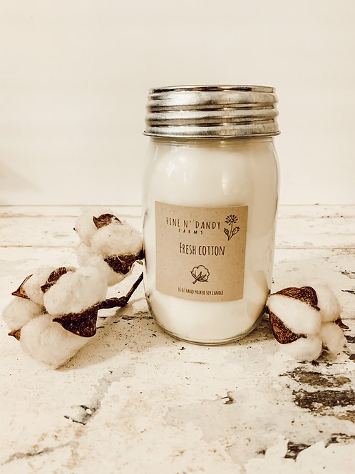 Fresh Cotton 16oz Soy Candle