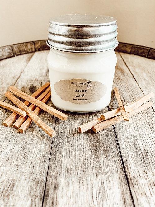 8 oz Sandalwood Soy Candle
