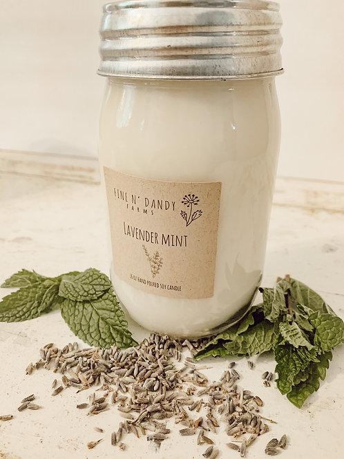 Lavender Mint 16oz Soy Candle