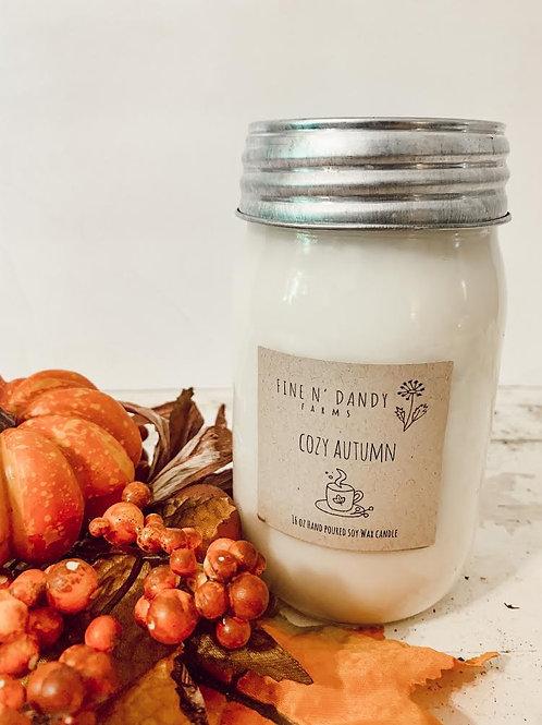 Cozy Autumn 16 oz Soy Candle