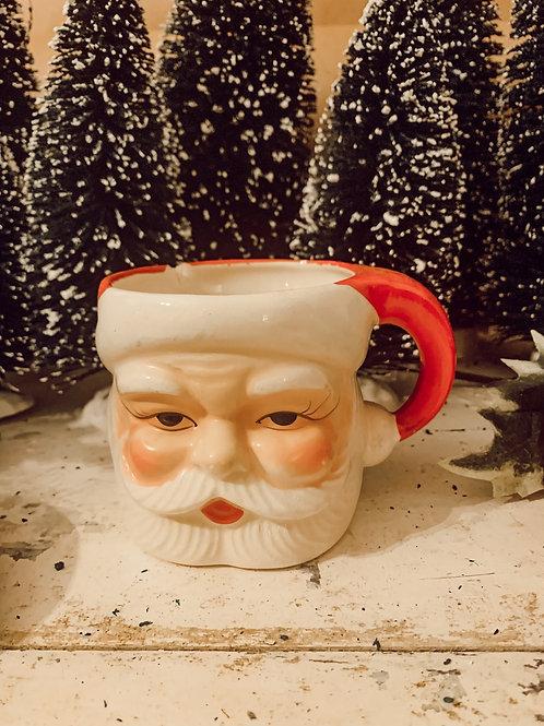 Large Antique Santa mug 14oz Soy Candle #1