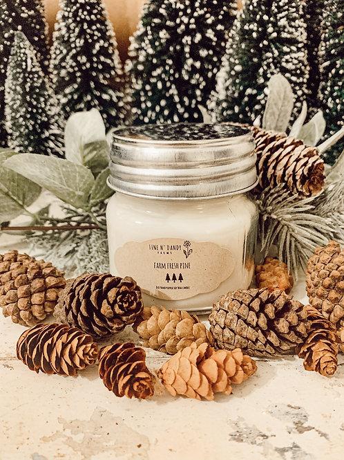 Farm Fresh Pine 8 oz Soy candle