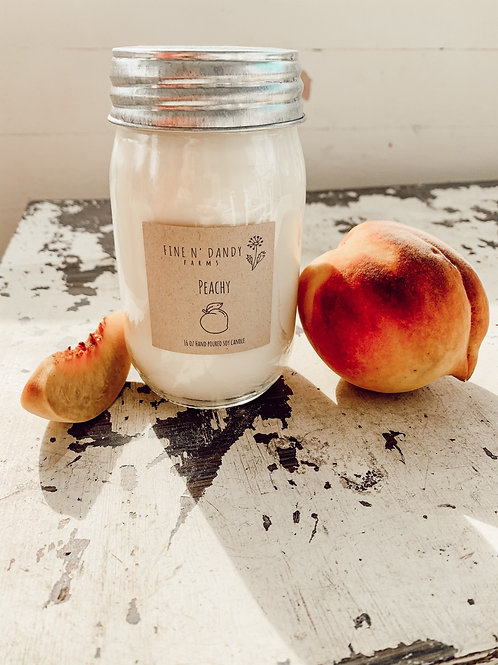 Peachy 16oz Soy Candle