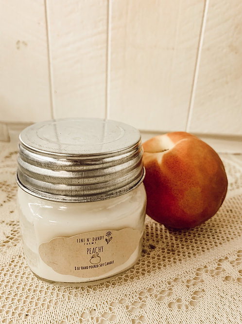 Peachy 8oz Soy Candle