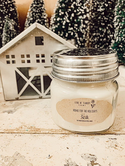 Home for the Holidays 8 oz Soy Candle