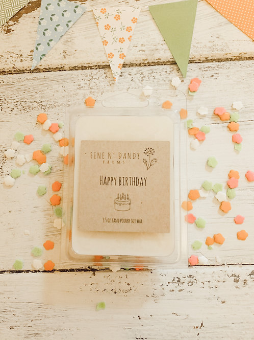 Happy Birthday Cake 3.5oz Soy Wax Melt