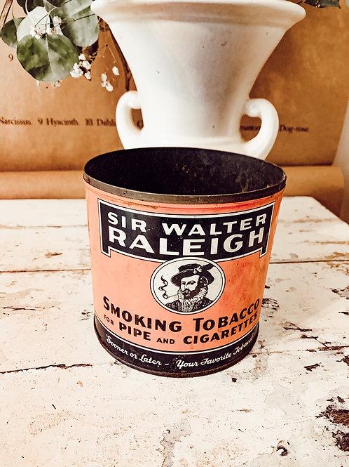 40oz Tobacco Tin (Sir Walter Raleigh)