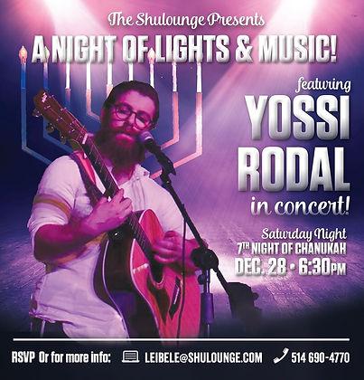 Yossi Rodal, Concert, Shulounge