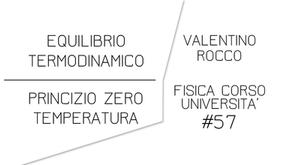 EQUILIBRIO TERMODINAMICO, PRINCIPIO ZERO E TEMPERATURA