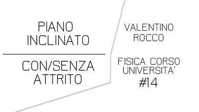 PIANO INCLINATO CON E SENZA ATTRITO