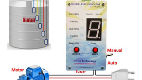 Water Level Indicator With Auto Motor On/Off | Digital Display Level Indication