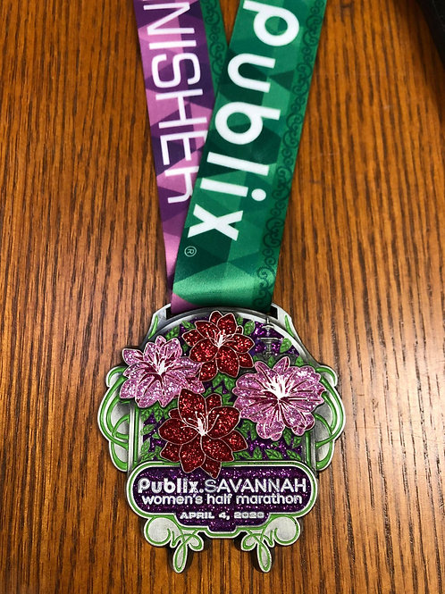2020 Publix Savannah Women's Half Marathon Finisher Medal