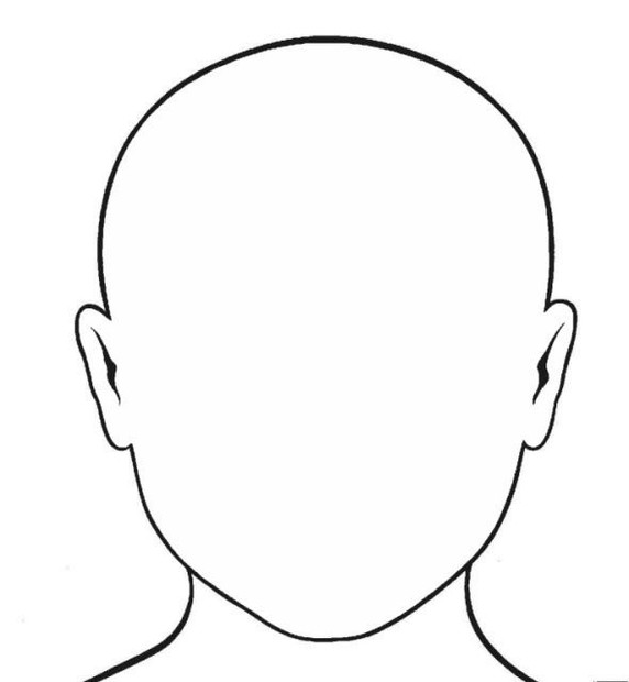 Blank face