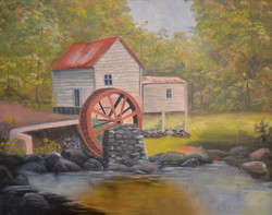 Red Water Wheel