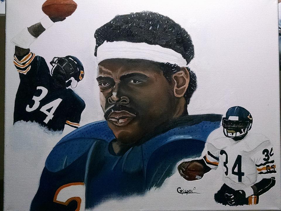 Walter Payton Painting