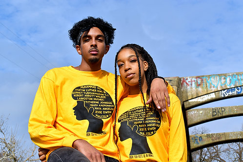 Gold BHM Long Sleeves