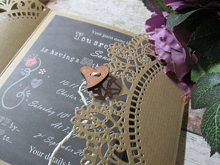 Die Cut Gatefold Chalkboard Invitation