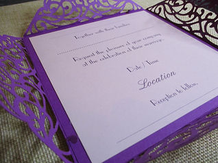 Die Cut Square Wedding Invitation